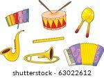 illustration of musical... | Shutterstock .eps vector #63022612