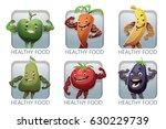 vector set of square frames... | Shutterstock .eps vector #630229739