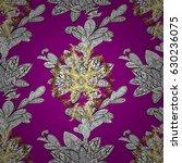 seamless pattern on magenta... | Shutterstock .eps vector #630236075