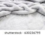 soft grey blanket | Shutterstock . vector #630236795