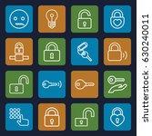 secret icons set. set of 16... | Shutterstock .eps vector #630240011