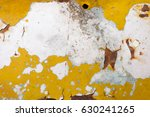 rusted white painted metal wall.... | Shutterstock . vector #630241265
