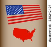 usa map with flag | Shutterstock .eps vector #630242429