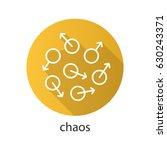 chaos flat linear long shadow... | Shutterstock .eps vector #630243371