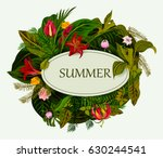 abstract exotic tropical leaf... | Shutterstock .eps vector #630244541