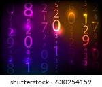 glowing neon abstract...   Shutterstock .eps vector #630254159