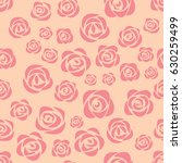 pink roses on pink background.... | Shutterstock .eps vector #630259499