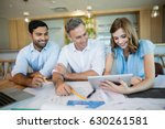 architects discussing over... | Shutterstock . vector #630261581