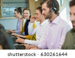 team of customer service... | Shutterstock . vector #630261644
