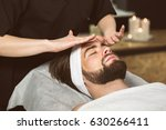 man at beautician's during gold ...   Shutterstock . vector #630266411