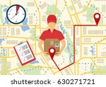 service of fast delivery.... | Shutterstock .eps vector #630271721