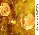 Art Autumn Floral Grunge...