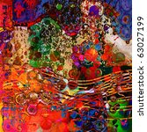 Art Abstract Colorful Rainbow...