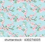 spring apple or peach tree... | Shutterstock .eps vector #630276035