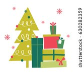 christmas present with... | Shutterstock .eps vector #630282359