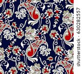 indian traditional  paisley... | Shutterstock .eps vector #630282557