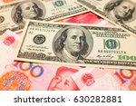 chinese yuan note and u.s.... | Shutterstock . vector #630282881