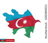 azerbaijan map with waving flag ... | Shutterstock .eps vector #630284021
