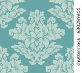 damask seamless pattern... | Shutterstock .eps vector #630289655