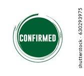 confirmed logo vector template | Shutterstock .eps vector #630293975