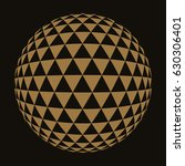 Sphere With Triangle Grid In...