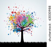 abstract colorful tree. vector...