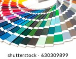 colour card of paint samples