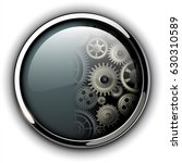 buttons shiny  chrome metallic... | Shutterstock .eps vector #630310589