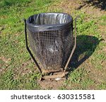 trash can in the park in the... | Shutterstock . vector #630315581