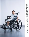 Portrait Of A Smiling Disabled...