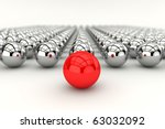 leadership concept with red... | Shutterstock . vector #63032092