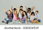 group of happiness little... | Shutterstock . vector #630326519