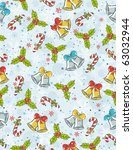 wrapping paper with christmas... | Shutterstock .eps vector #63032944