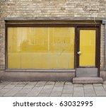 door of an old closed shop | Shutterstock . vector #63032995