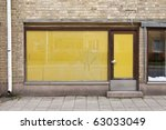 door of an old closed shop | Shutterstock . vector #63033049