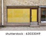 door of an old closed shop | Shutterstock . vector #63033049