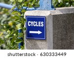 cycle sign | Shutterstock . vector #630333449