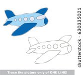 blue airplane. dot to dot... | Shutterstock .eps vector #630335021