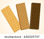 three vanilla and chocolate... | Shutterstock .eps vector #630335747
