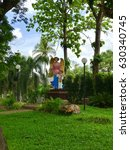 Small photo of Angel stature in the garden