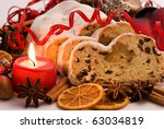 Marzipan Stollen And Candlelight
