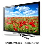 modern tv lcd  led with wild... | Shutterstock . vector #63034840