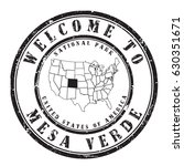 """rubber stamp """"welcome to mesa... 