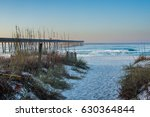 sandy panama city beach pier at ... | Shutterstock . vector #630364844