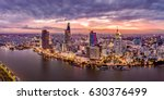 ho chi minh city  aerial view | Shutterstock . vector #630376499
