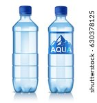 Vector Plastic Bottle With...