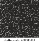hand drawn seamless pattern of... | Shutterstock .eps vector #630380441