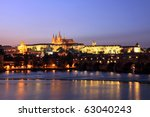 colorful prague gothic castle... | Shutterstock . vector #63040243
