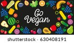 set of vegetables and fruits... | Shutterstock .eps vector #630408191