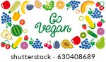 set of vegetables and fruits... | Shutterstock . vector #630408689